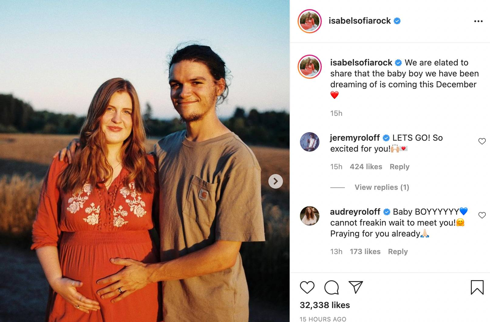 Jacob Roloff and Wife Isabel Rock pregnant